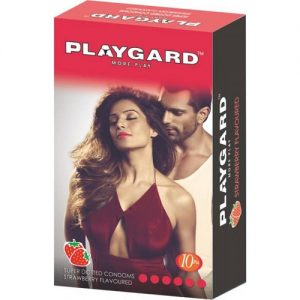 playgard strawberry flavored condom